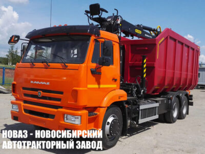 Ломовоз (металловоз) на шасси КАМАЗ 65115 с манипулятором VM10L74M (ЕВРО 5) новый