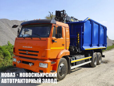 Ломовоз (металловоз) с ГМУ VM10L74M на шасси КАМАЗ 65115 кузов ТИТАН (ТоргКомс) (ЕВРО 5) новый