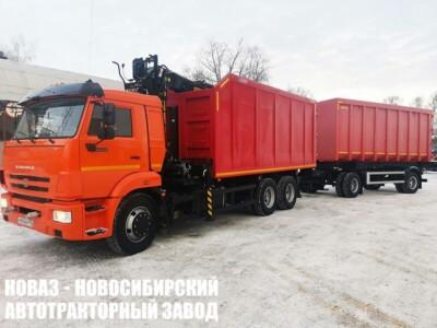 Ломовоз (металловоз) на шасси КАМАЗ 65115 (ЕВРО 5) с ГМУ VM10L74M с прицепом АМКАР 8595-02 новый