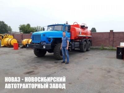 АТЗ-10Б УРАЛ 4320-1951-60 10 м3, один отсек, боковое расположение УВТ, насос СВН-80, 6х6,