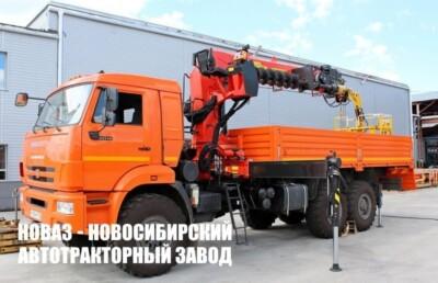 Бортовой КАМАЗ 43118 с КМУ Palfinger IT-200 с буром и люлькой (Ростехнадзор) (ЕВРО 5) новый
