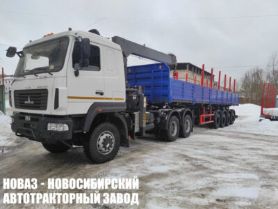 Седельный тягач 643228-8521-012 с КМУ HORIONG 206