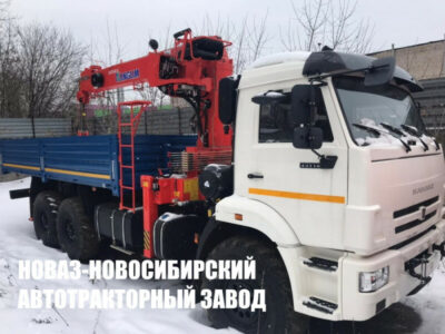 Бортовой КАМАЗ 43118 с КМУ Kanglim KS1256G-II TOP