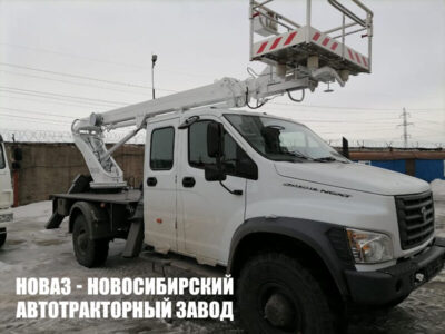 АВТОГИДРОПОДЪЕМНИК КЭМЗ ТА-18 НА ШАССИ ГАЗ-C42A43 (4Х4), ДВУХРЯДКА, СТРЕЛА ВПЕРЕД