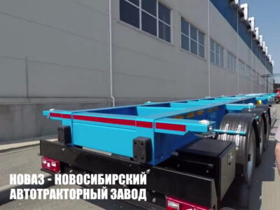 40 тн, 12 м, полуприцеп контейнеровоз, 3 оси, односкатный