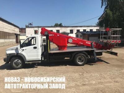АВТОГИДРОПОДЪЕМНИК КЭМЗ Т-24 НА ШАССИ ГАЗ-C41R33 (4Х2), ОДНОРЯДКА, СТРЕЛА НАЗАД