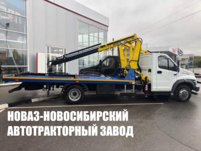 Эвакуатор с КМУ HYVA HA 110- E2 с прямой платформой на базе ГАЗ- C41R13