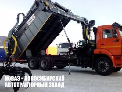 КАМАЗ металловоз 65115 Гидроманипулятор МАЙМАН-ММ110