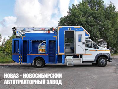 (Аварийно-ремонтная мастерская с тросовой крано-манипуляторной установкой Cobra 5500) на базе ГАЗон NEXT C41R33