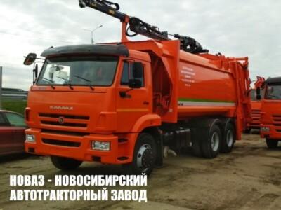 Мусоровоз с задней загрузкой МК-4547-08 и КМУ на шасси КАМАЗ 65115 (ЕВРО 5) новый