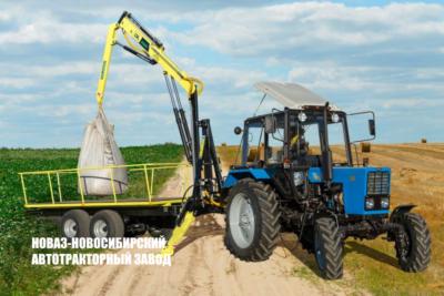 DL AGROMASTER — тракторный полуприцеп с манипулятором от завода НОВАЗ