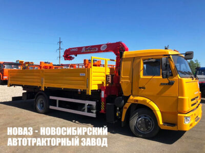 Бортовой КАМАЗ 4308 с КМУ UNIC URV-373K (ЕВРО 5) новый