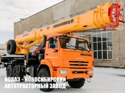 АВТОКРАН ИВАНОВЕЦ КС-55717К-3 Air на шасси КАМАЗ-43118