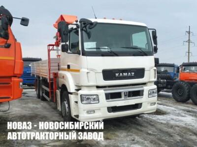 Бортовой КАМАЗ-65207-1002-87(S5) с манипулятором Kanglim KS1256 G2