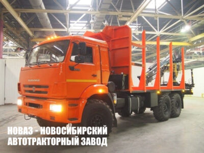 Лесовоз на базе КАМАЗ-43118 c манипулятором Майман
