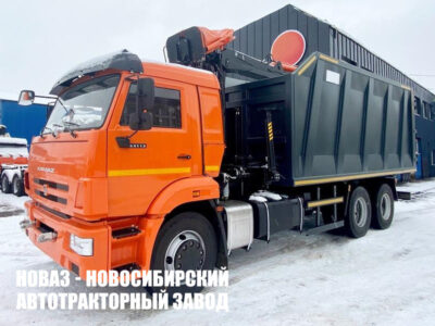 Ломовоз КАМАЗ 65115-773094-50 с манипулятором Р97M и грейфером ГЛ-6М