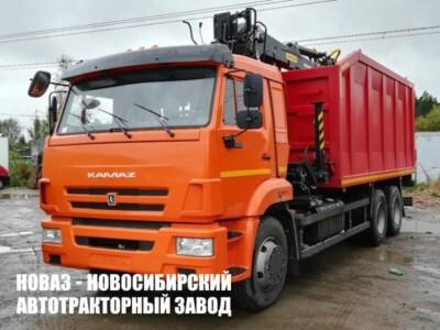 Ломовоз КАМАЗ 65115 с манипулятором ВЕЛМАШ VM10L74M модели 659004-0062035-23