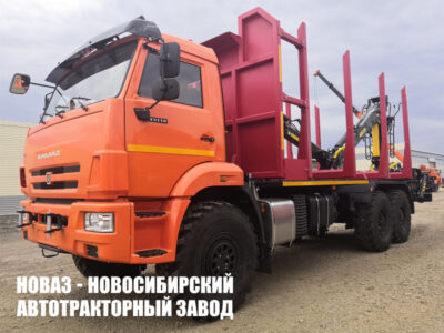 Лесовоз КАМАЗ-43118 с манипулятором ВЕЛМАШ VM10L74 модели 659108-0042039-42