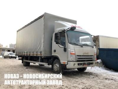 Тентованный грузовик JAC N80 с платформой 7400х2550х2500 мм