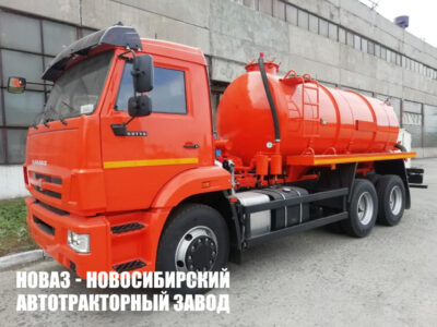 Вакуумная машина МВ-10 объёмом 10 м³ на базе КАМАЗ 65115