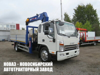 Бортовой грузовик JAC N120 с манипулятором DongYang SS1414