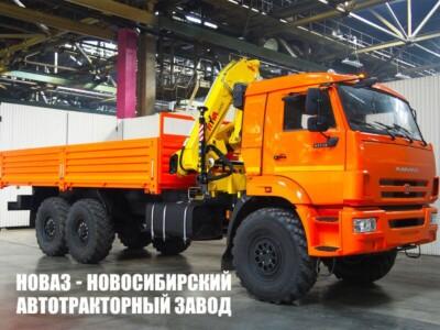 Бортовой грузовик КАМАЗ 43118 с манипулятором Hyva HB 150 E2 или HB 152 E2