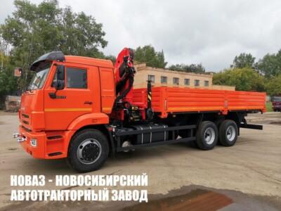Бортовой грузовик КАМАЗ 65115 с манипулятором INMAN IM 150N