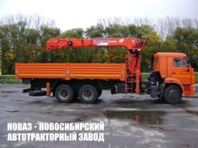 Грузовой автомобиль КАМАЗ 65115 с манипулятором Kanglim KS2056H