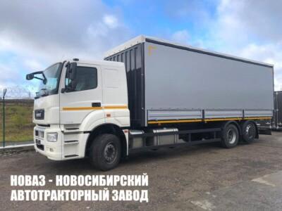 Тентованный грузовик КАМАЗ 65208-1002-87 с платформой 8200х2550х2700 мм