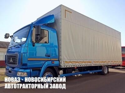 Тентованный грузовик МАЗ 4381С0-2522-025 с платформой 7750х2480х3000 мм