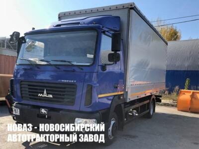 Тентованный грузовик МАЗ 4381С0-2540-020 с платформой 6300х2550х2500 мм
